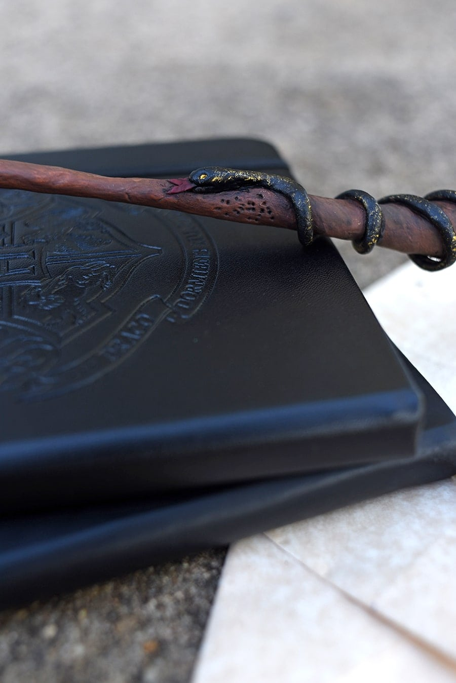 Snake on DIY Harry Potter wand prop