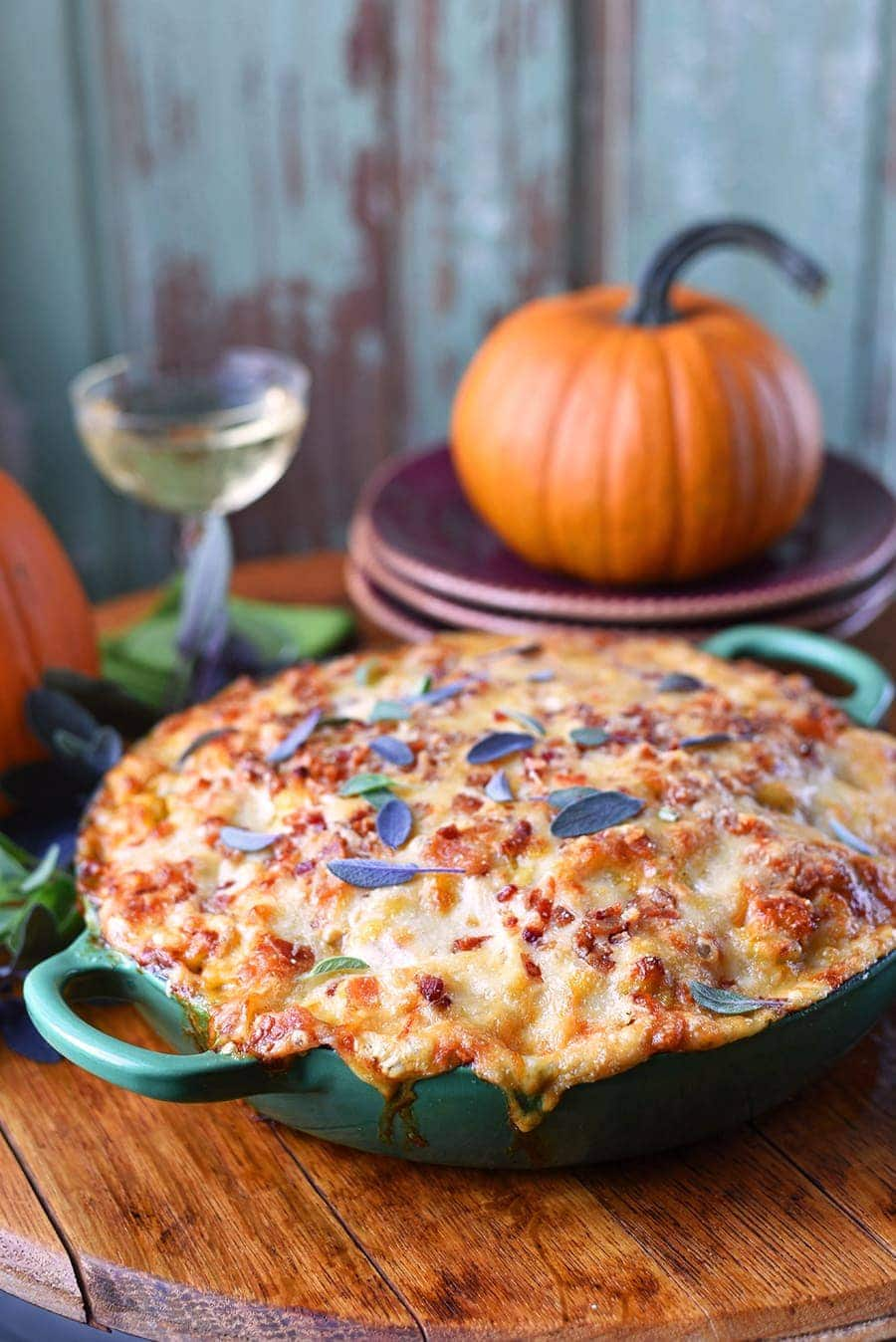 #Pumpkin #macandcheese is just want the fall season requires! We've included instructions for a weeknight #casserole and additions to make a #holiday worthy side dish.