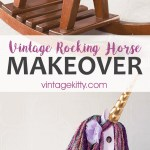 Vintage Rocking Horse Makeover Into A Unicorn Vintage Kitty