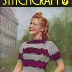 Stitchcraft Aug 1945 free knitting pattertns