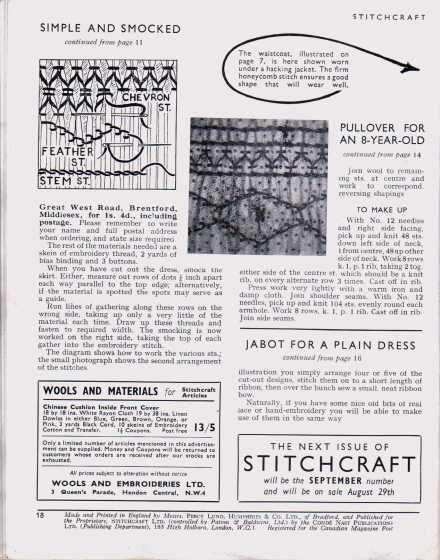 Stitchcraft August 194717