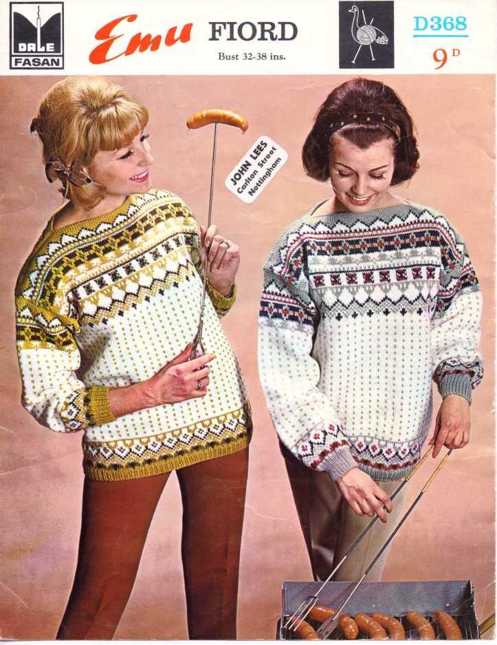Free Knitting Pattern 60s Norweigan