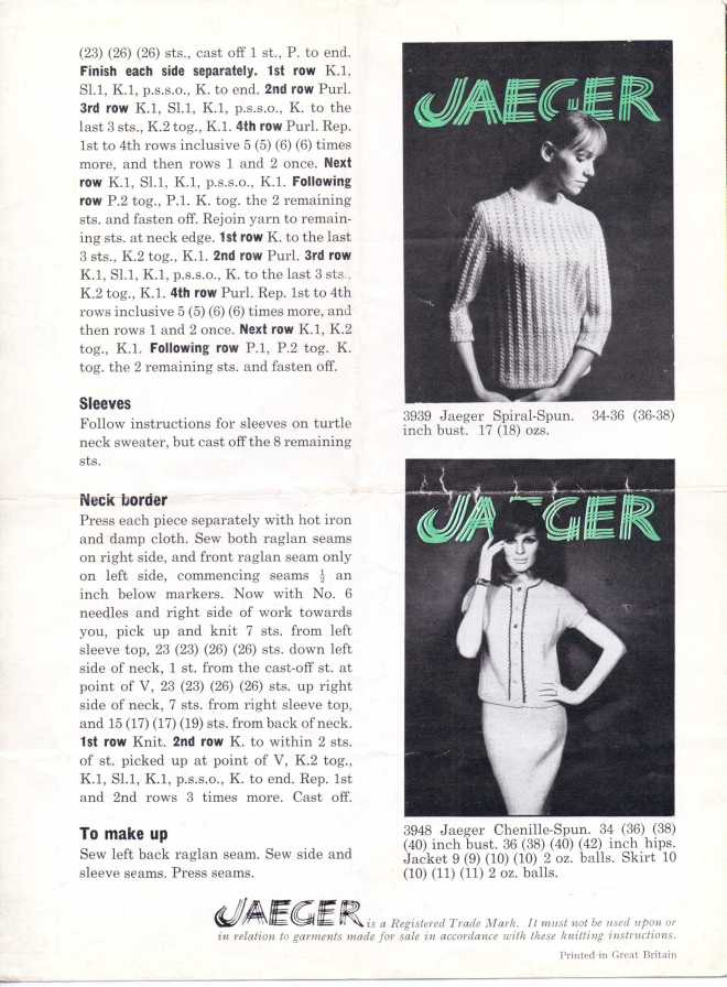 Jaeger60s1 60s Beatnik sweater free knitting pattern