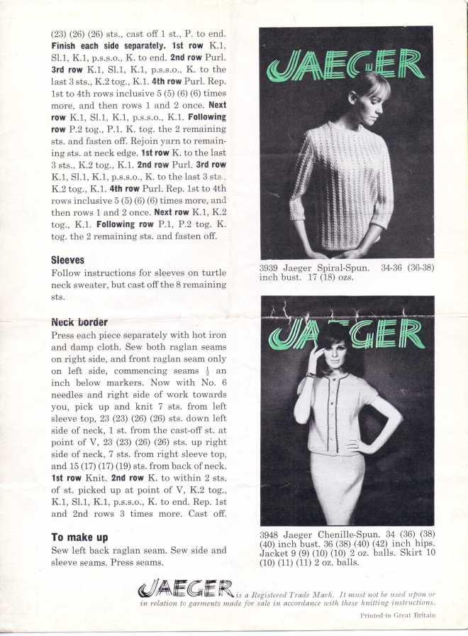 Jaeger60s1 60s Beatnik sweater free knitting pattern