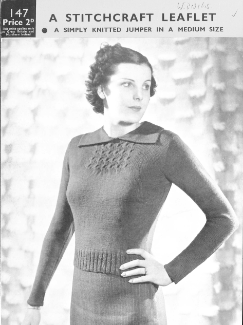 Stitchcraft 147 free thirties knitting pattern