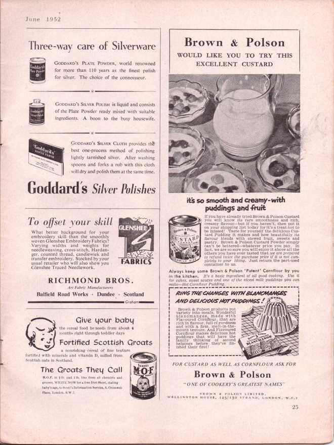vintage knitting patternstitchcraftjune195226