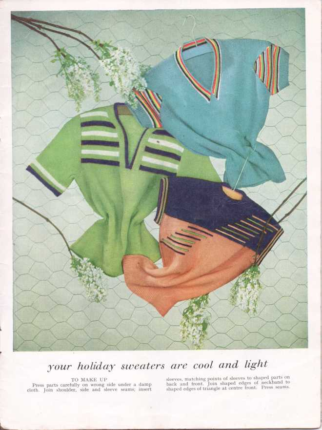 vintage knitting patternstitchcraftjune195230