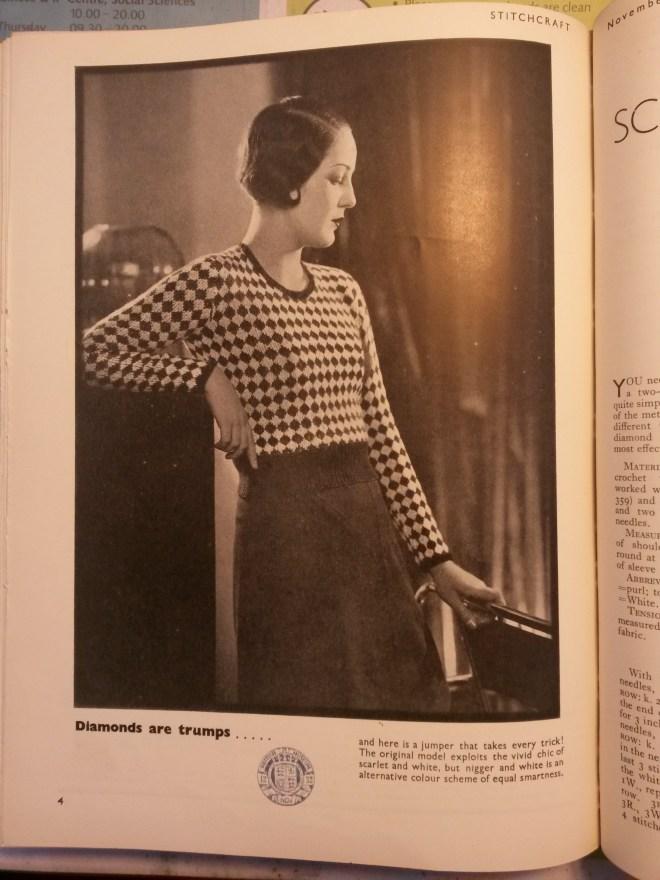 free vintage knitting pattern ladies jumper