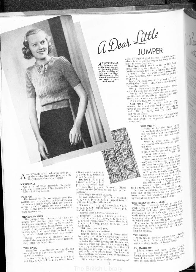 1938 Jumper Jill in free vintage knitting pattern