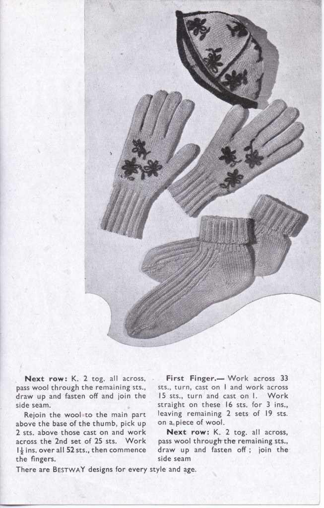 Bestway 1056 ladies gloves free knitting pattern 2