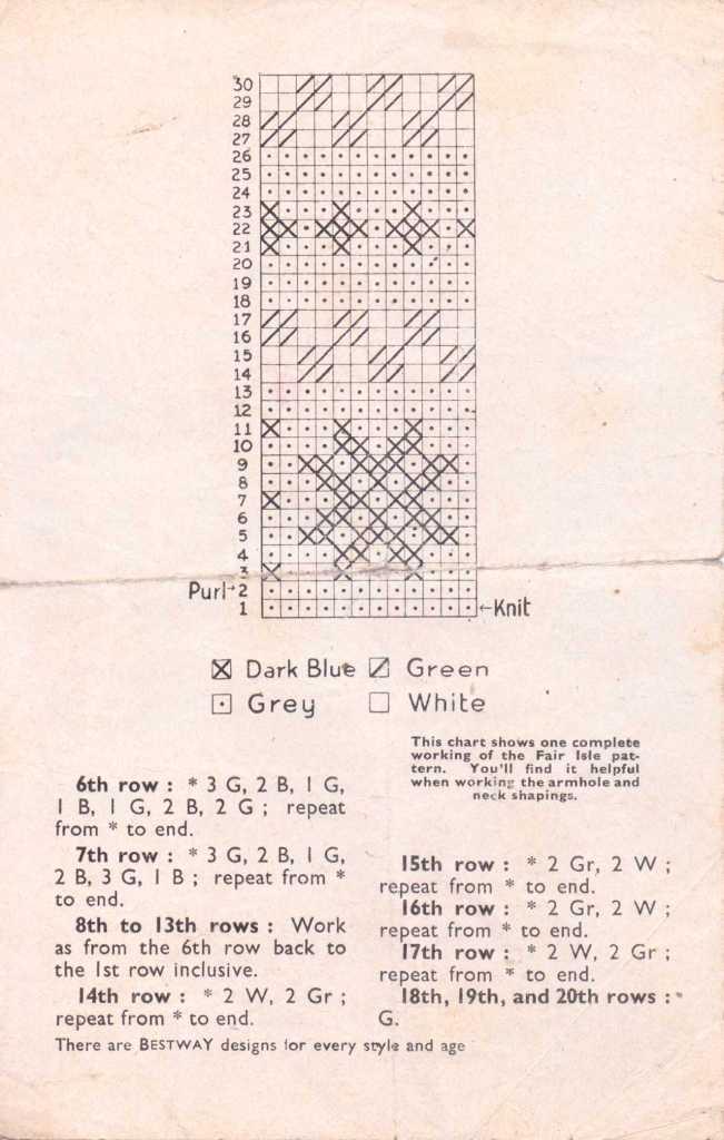 Bestway 1524 free knitting pattern men's 2