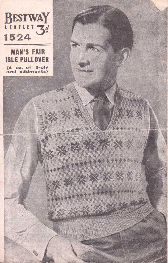 Bestway 1524 free knitting pattern men's