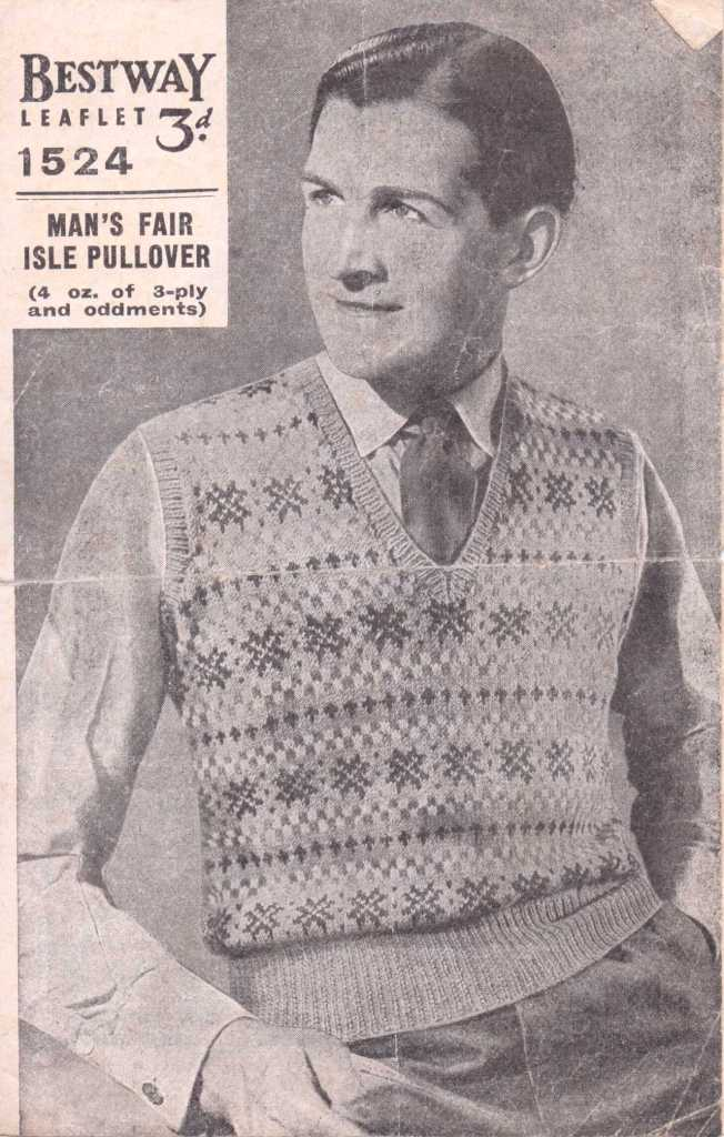 Bestway 1524 free knitting pattern men's