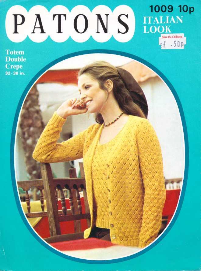 Patons 1009 ladies jumper free knitting pattern