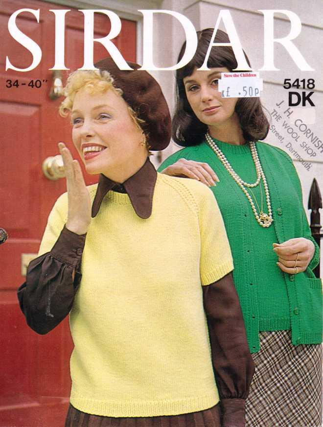 Sidar 5418 ladies jumper free knitting pattern