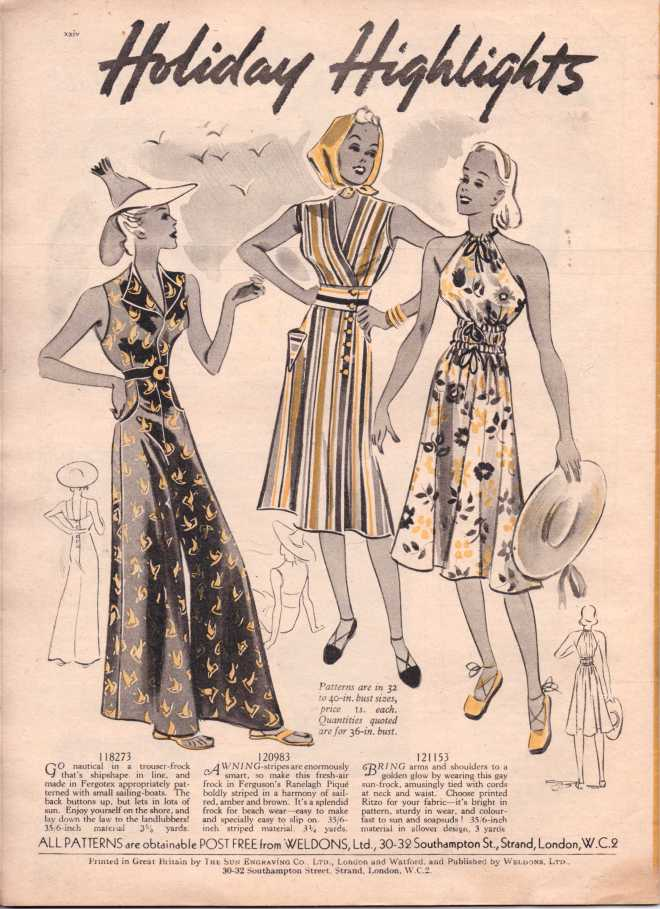 Weldon's Ladies Journal 1938 free knitting pattern25