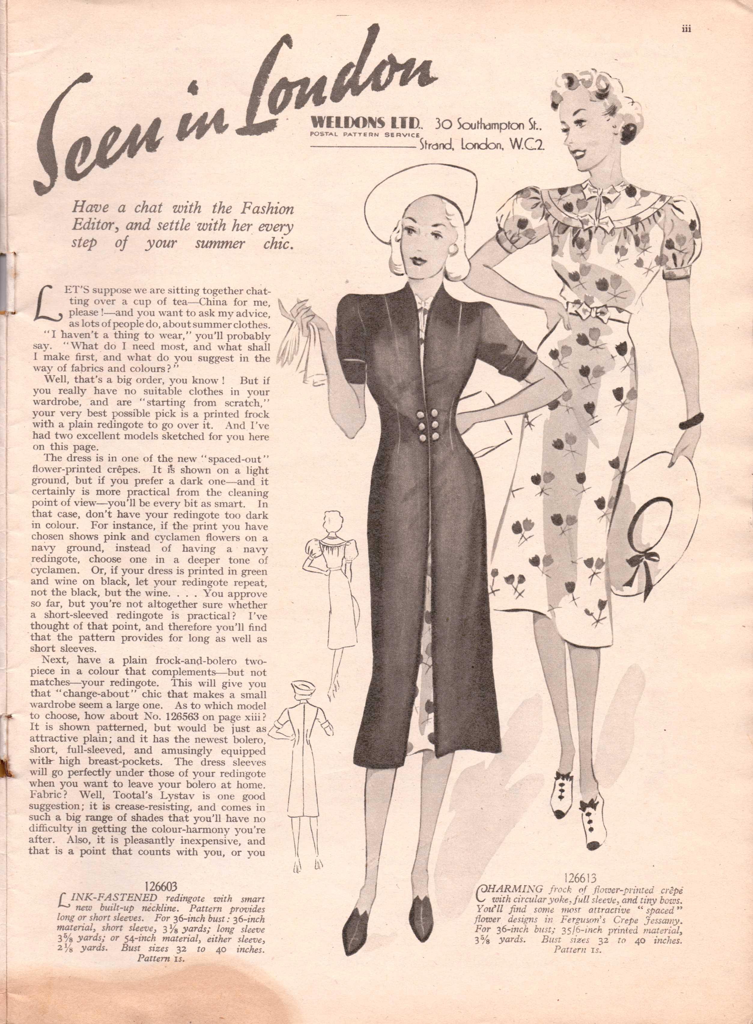 Free Vintage Magazine 1938 Portfolio Of Fashion From Weldon S Ladies Journal No 708 Vintage Knitting Pattern Archive
