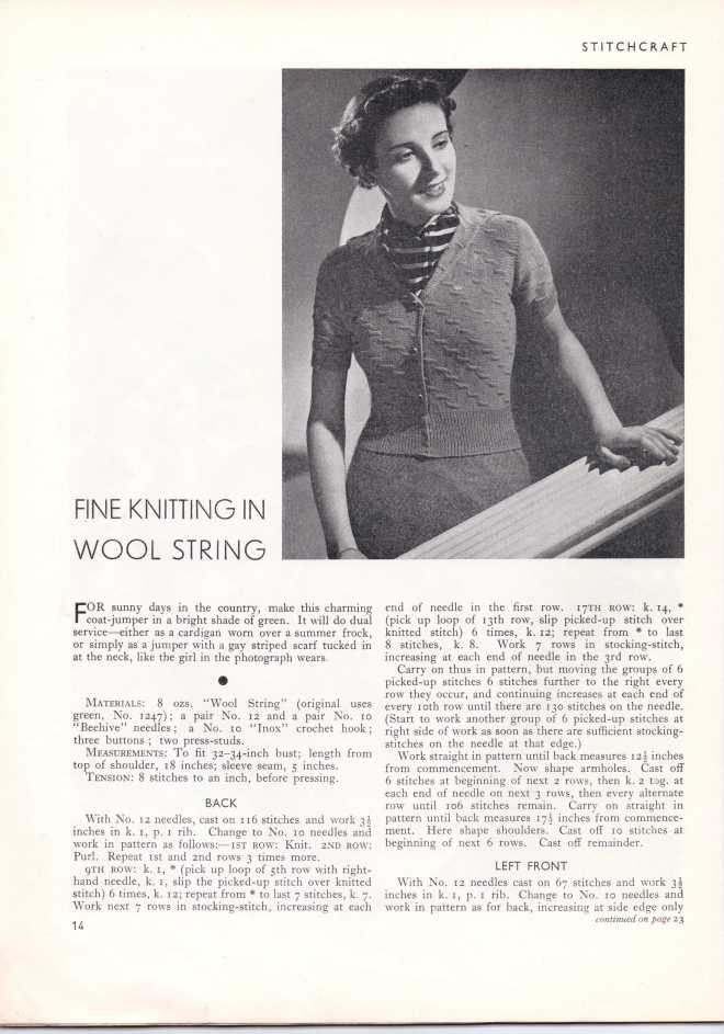 Stitchcraft May 193715