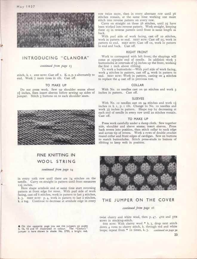 Stitchcraft May 193724