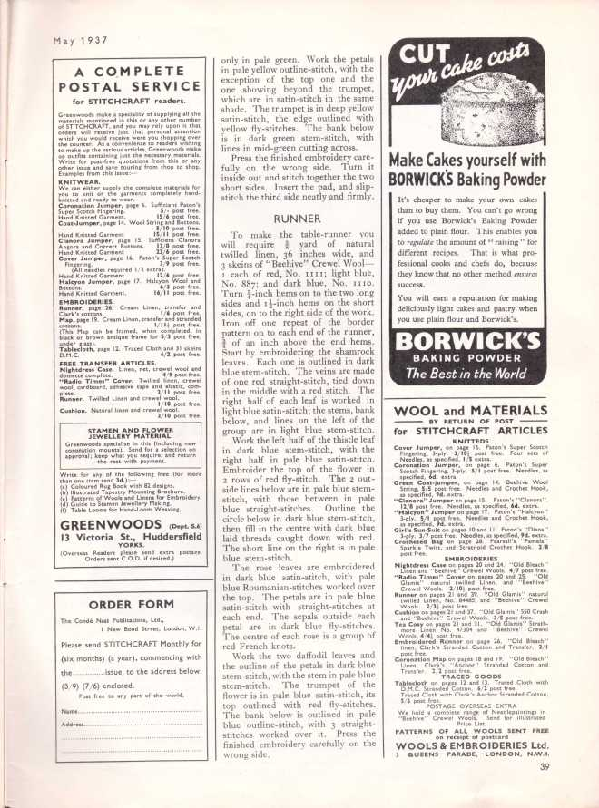 Stitchcraft May 193739