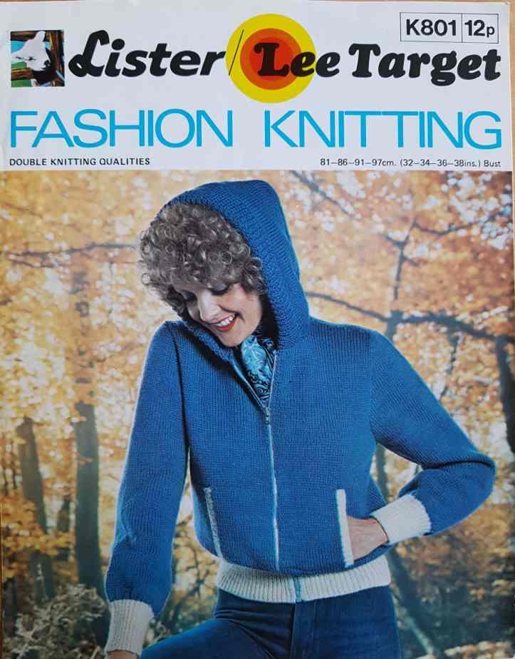 d983cd33f Free Vintage Knitting Pattern cute 1970 s hoodie Lister Lee Target K801