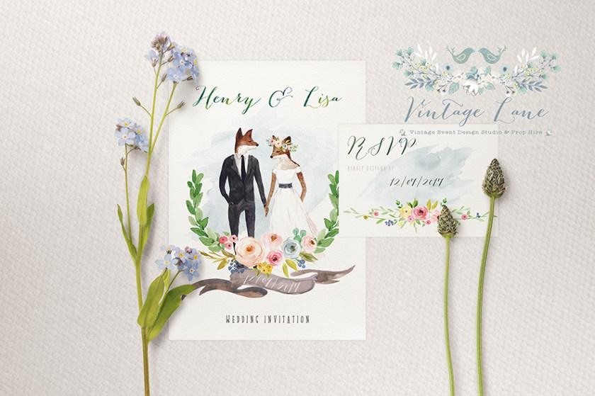 Rustic Style Wedding Invitations Boho Ireland Cork Vine Lane Kate Kosareva Designer