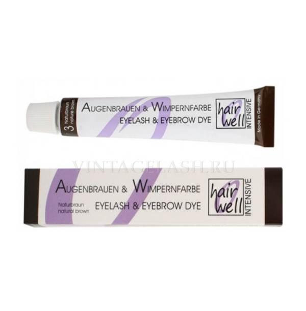 Hairwell краска для ресниц и бровей коричневая №3
