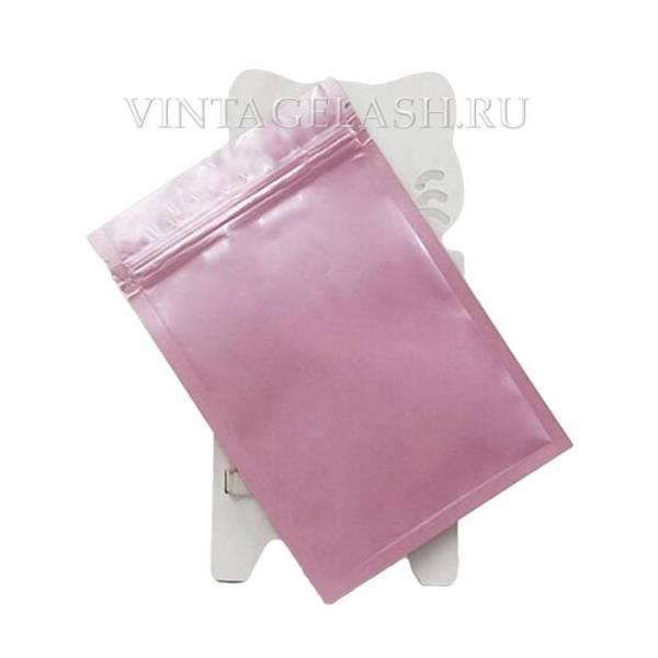 Алюминиевый герметичный пакет с зип застежкой 8х12 см