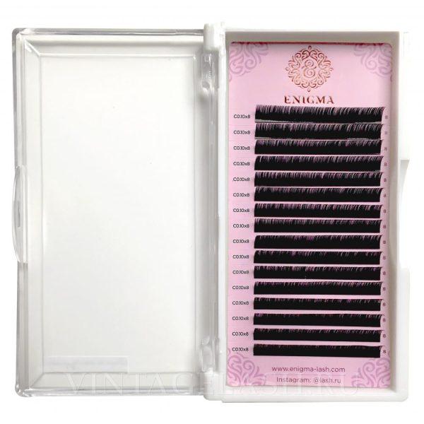 Черные ресницы Enigma Изгиб C (один размер) 16 линий