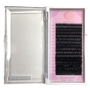 Черные ресницы Enigma Изгиб L (микс) 16 линий