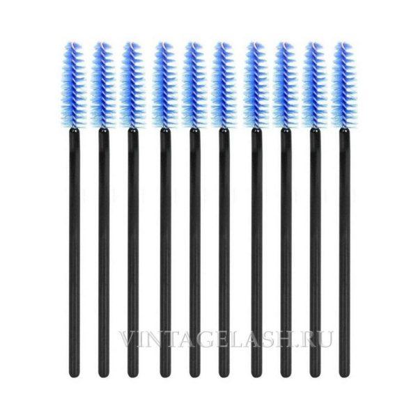 Щеточки синие с черной ручкой 10 шт.