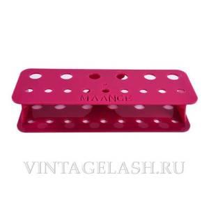Органайзер на 15 пинцетов розовый