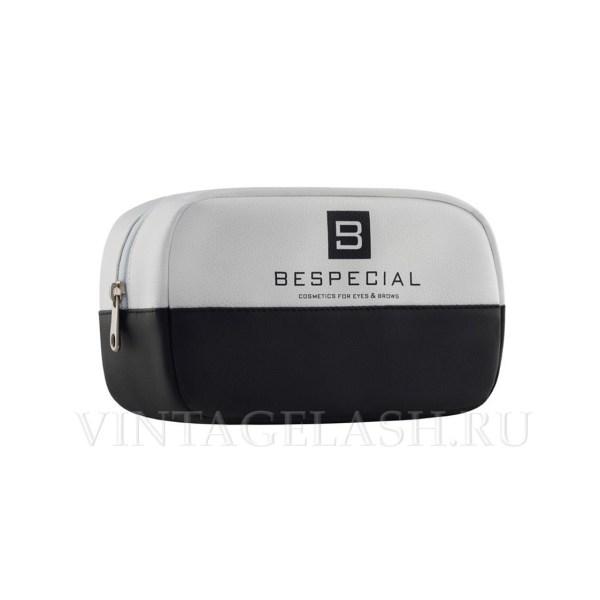 Косметичка BeSpecial черно-белая, большая