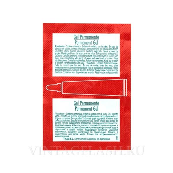 Перманентный гель для ламинирования ресниц и бровей Thuya Professional Line в саше (2 шт.)