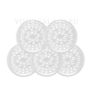 Набор одноразовых палеток для клея, 5 шт. (26 углублений)