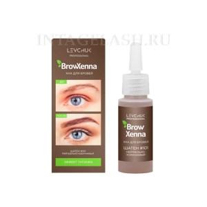 Хна для бровей BrowXenna Шатен #101, нейтрально-коричневый, (флакон)