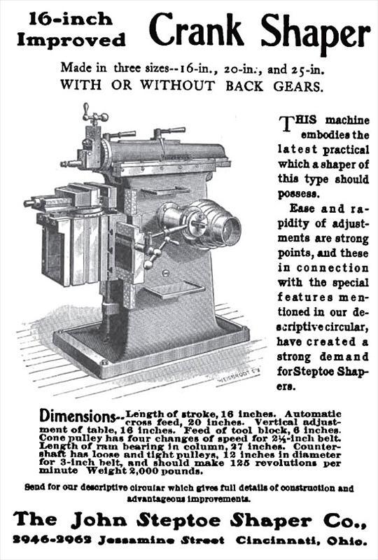 John Steptoe Amp Co 1903 Ad John Steptoe Shaper Co 16