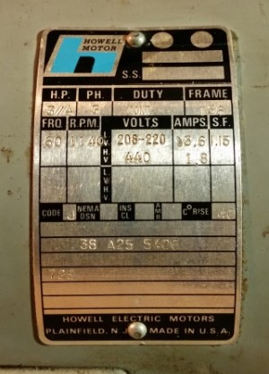 Photo Index  Howell Electric Motors Co  3 phase 1140 RPM | VintageMachinery