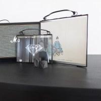 Cadre en verre et métal - paysage