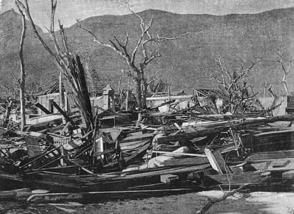 Poivre Street - Port Louis - Cyclone 1892