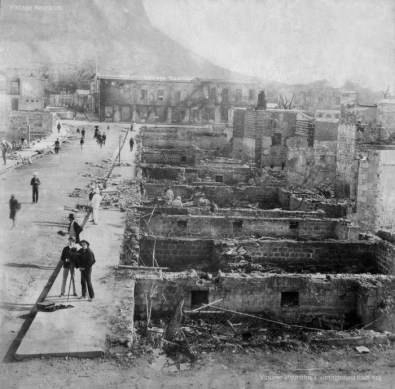 Port Louis - Aftermath of the Fire of La Chaussee Street - 1893