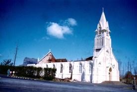Cyclone Carol Takes Off St Jean Church - Feb 1960 - Courtesy: Sophie Cayeux