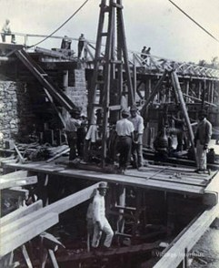Foundation Stage of the Cavendish Bridge