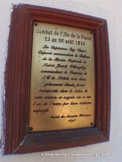 Mahebourg Naval Museum Yard Chateau Robillard 1810 Battle Note