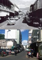 Port Louis - Bourbon Street - 1960s/2013