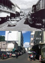Port Louis - Bourbon Street - 1960s/2013