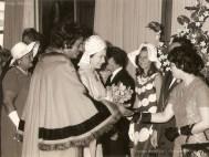 Gyselaine Henry, Sir Gaitan Duval, Queen Elizabeth II, Laval & Gisele Lan Fat Po - 1972 (Courtesy: France Athow)