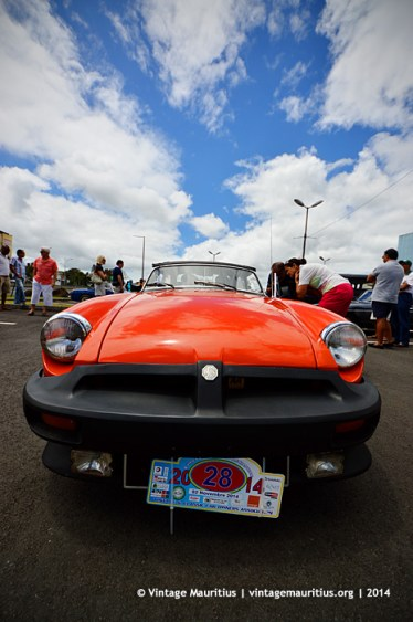 Red MG B Classic Vintage Car Mauritius