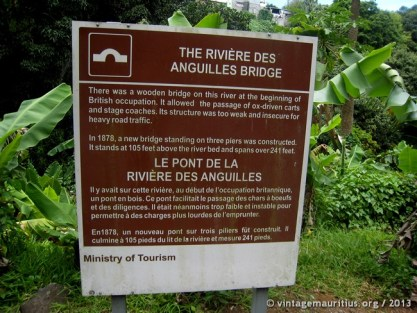 Information Sign of the MTPA at the side of the road to the River bank