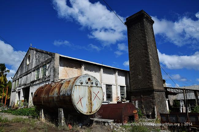 St Hubert Old Sugar Mill Chimney Vintage Mauritius